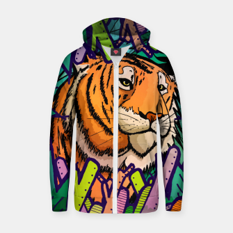 Imagen en miniatura de tiger in the undergrowth  Cotton zip up hoodie, Live Heroes