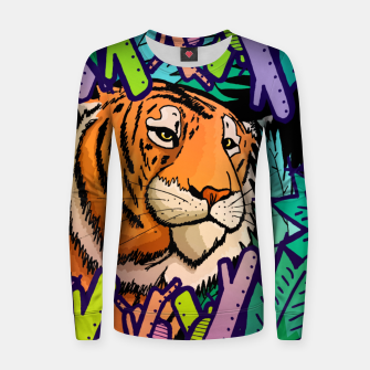 Imagen en miniatura de tiger in the undergrowth  Woman cotton sweater, Live Heroes