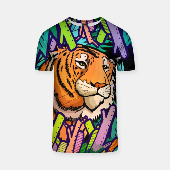 Imagen en miniatura de tiger in the undergrowth  T-shirt, Live Heroes