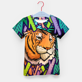 Imagen en miniatura de tiger in the undergrowth  Kid's t-shirt, Live Heroes