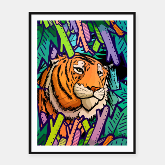 Imagen en miniatura de tiger in the undergrowth  Framed poster, Live Heroes