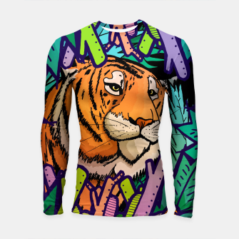 Thumbnail image of tiger in the undergrowth  Longsleeve rashguard , Live Heroes