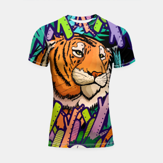 Imagen en miniatura de tiger in the undergrowth  Shortsleeve rashguard, Live Heroes