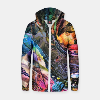 Thumbnail image of Evolving Waves Cotton zip up hoodie, Live Heroes