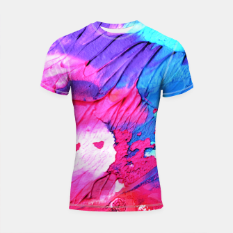 Thumbnail image of Colour Painting Splash Shiny Spectrum Shortsleeve rashguard, Live Heroes