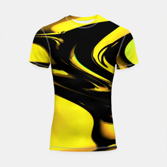 Thumbnail image of Gold Black Elegant Watercolour Paint  Shortsleeve rashguard, Live Heroes