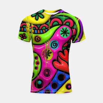 Thumbnail image of Abstract Colourful Spectrum Child Painting Shortsleeve rashguard, Live Heroes