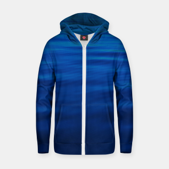 Thumbnail image of Dull Blue Waves Cotton zip up hoodie, Live Heroes