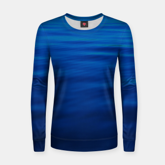 Thumbnail image of Dull Blue Waves Woman cotton sweater, Live Heroes