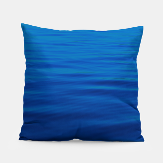 Thumbnail image of Dull Blue Waves Pillow, Live Heroes