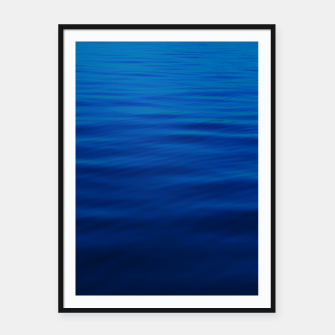Thumbnail image of Dull Blue Waves Framed poster, Live Heroes