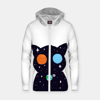 Thumbnail image of THE UNIVERSE IS ALWAYS WATCHING YOU! Cotton zip up hoodie, Live Heroes