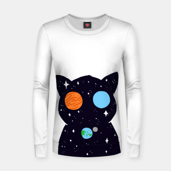 Thumbnail image of THE UNIVERSE IS ALWAYS WATCHING YOU! Woman cotton sweater, Live Heroes