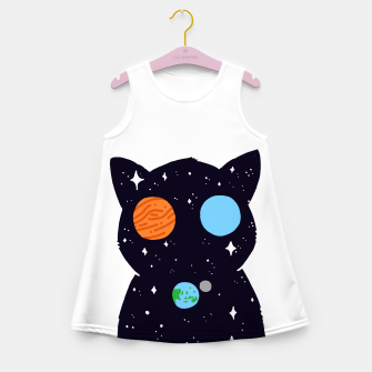 Thumbnail image of THE UNIVERSE IS ALWAYS WATCHING YOU! Girl's summer dress, Live Heroes