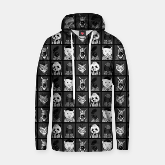 Thumbnail image of GENTLEMEN NOIR Cotton hoodie, Live Heroes