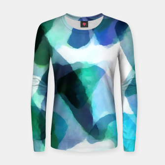 Thumbnail image of Soft Touch Aqua Abstract |  Woman cotton sweater, Live Heroes