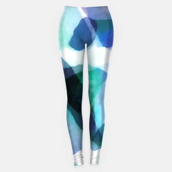 Thumbnail image of Soft Touch Aqua Abstract |  Leggings, Live Heroes