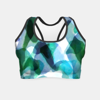 Thumbnail image of Soft Touch Aqua Abstract |  Crop Top, Live Heroes