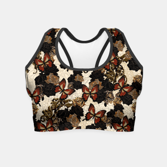 Thumbnail image of Butterfly and Japanesque Rose Baroque decoration Crop Top, Live Heroes