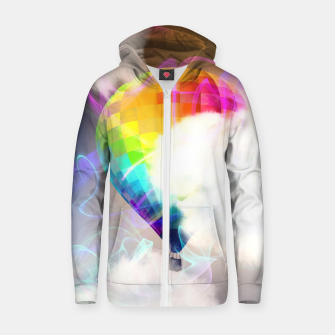 Thumbnail image of Traveling colors Cotton zip up hoodie, Live Heroes