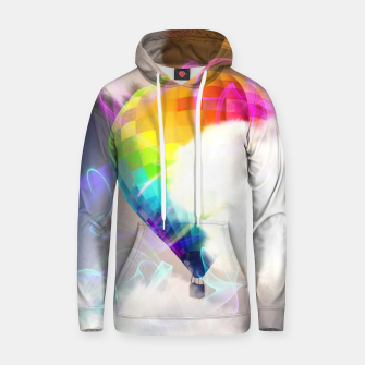 Thumbnail image of Traveling colors Cotton hoodie, Live Heroes