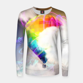 Thumbnail image of Traveling colors Woman cotton sweater, Live Heroes