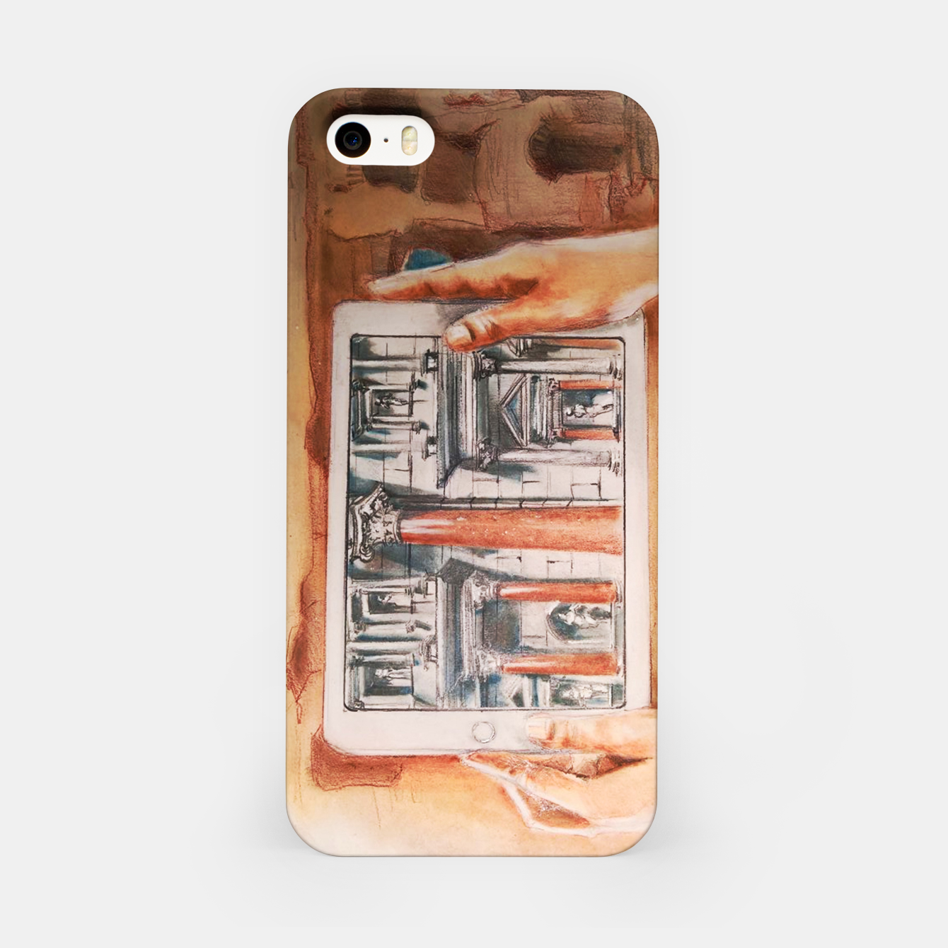 Image of surreal landscape of rome past presente future Yulia A Korneva iPhone Case - Live Heroes