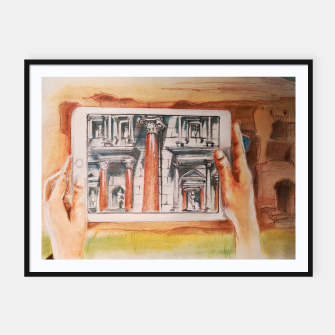 surreal landscape of rome past presente future Yulia A Korneva Framed poster thumbnail image