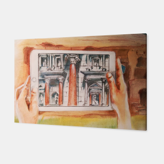 Miniaturka surreal landscape of rome past presente future Yulia A Korneva Canvas, Live Heroes