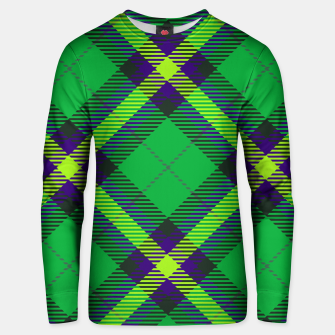 Thumbnail image of Modern Design Classic Plaid Fabric Green Cotton sweater, Live Heroes