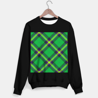 Thumbnail image of Modern Design Classic Plaid Fabric Green Sweater regular, Live Heroes