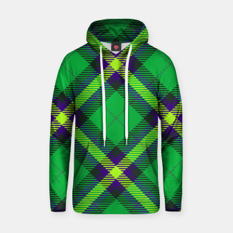 Thumbnail image of Modern Design Classic Plaid Fabric Green Cotton hoodie, Live Heroes