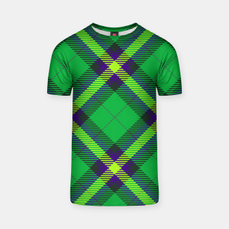 Thumbnail image of Modern Design Classic Plaid Fabric Green T-shirt, Live Heroes