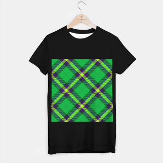 Thumbnail image of Modern Design Classic Plaid Fabric Green T-shirt regular, Live Heroes