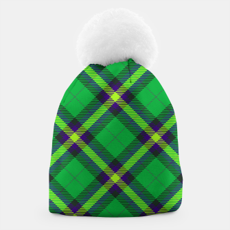 Thumbnail image of Modern Design Classic Plaid Fabric Green Beanie, Live Heroes