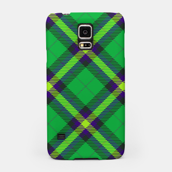 Thumbnail image of Modern Design Classic Plaid Fabric Green Samsung Case, Live Heroes