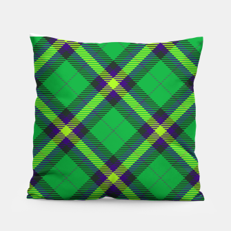 Thumbnail image of Modern Design Classic Plaid Fabric Green Pillow, Live Heroes