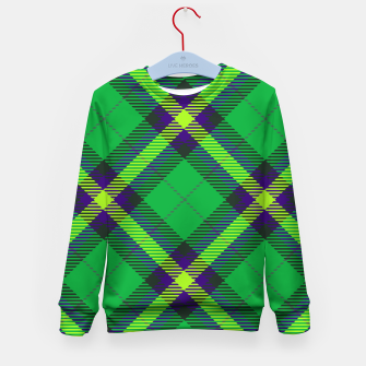 Thumbnail image of Modern Design Classic Plaid Fabric Green Kid's sweater, Live Heroes