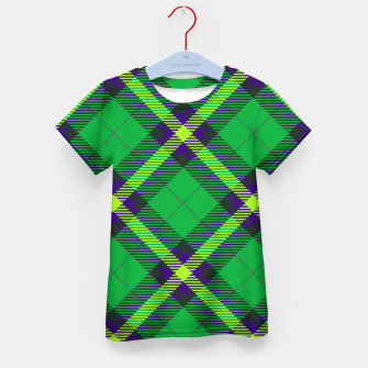 Thumbnail image of Modern Design Classic Plaid Fabric Green Kid's t-shirt, Live Heroes