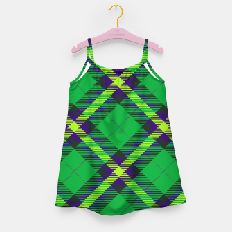 Thumbnail image of Modern Design Classic Plaid Fabric Green Girl's dress, Live Heroes