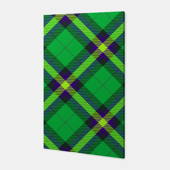 Thumbnail image of Modern Design Classic Plaid Fabric Green Canvas, Live Heroes