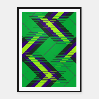 Thumbnail image of Modern Design Classic Plaid Fabric Green Framed poster, Live Heroes