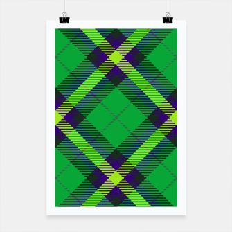 Thumbnail image of Modern Design Classic Plaid Fabric Green Poster, Live Heroes