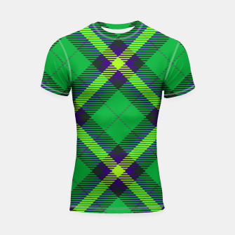 Thumbnail image of Modern Design Classic Plaid Fabric Green Shortsleeve rashguard, Live Heroes