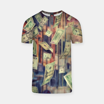 Faling Money T-shirt Bild der Miniatur