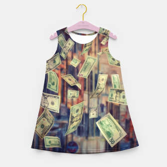 Faling Money Girl's summer dress Bild der Miniatur