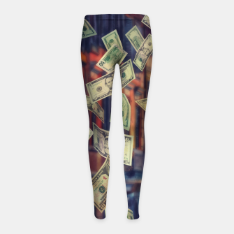 Faling Money Girl's leggings Bild der Miniatur