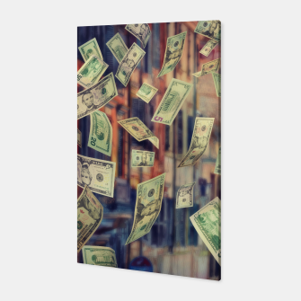 Faling Money Canvas Bild der Miniatur
