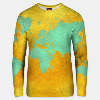 Miniaturka world map gold green  Bluza bawełniana, Live Heroes