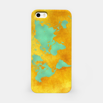 Miniaturka world map gold green  Obudowa iPhone, Live Heroes